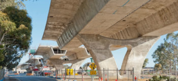 Large elevated highway under reconstruction